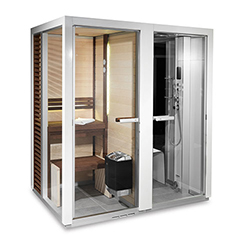 Tylo Impression Twin 130/1309 Sauna / Steam Shower - White