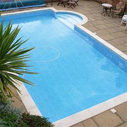 Swimmer Standard Block & Liner<br>Hopper Pool Kit - 4m x 8m